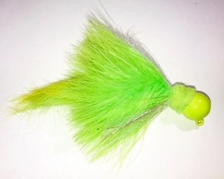 Green/Chartreuse Marabou Salmon Twitching Jig