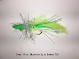 Green Ghost Hootchie Twitching Jig w Zonker Tail