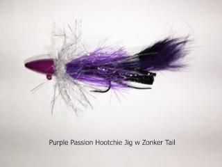Purple Passion Hootchie Twitching Jig w Zonker Tail